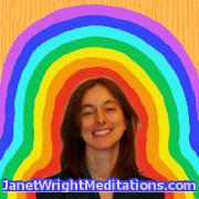 visualization aid, 7 layers of aura around psychic Janet Wright